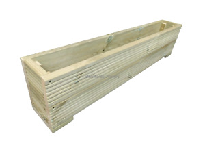 Large Wooden Decking Planter Trough, Raised Flower bed, plant box, Various Sizes