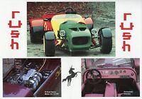 Rush Prospekt 1992 Kit Car Autoprospekt Broschüre brochure broschyr prospectus