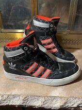 Adidas High Top Basketball Sneakers Shoes Black Orange Mens Size 9.5 2013 Retro