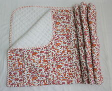 Hand Block Print baby Quilts Cotton Fabric Baby Wrap Child Baby Sheet 44'' size
