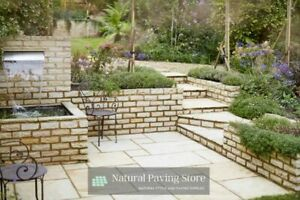 Fossil Mint Sandstone Walling Bricks Paving Patio Indian Natural Slabs Flags
