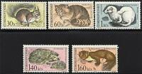 CZECHOSLOVAKIA 1967 WILD ANIMALS MNH HEDGEHOG, SQUIRREL, CAT A14