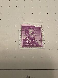 RARE US Abraham Lincoln 4 Cent Stamp 1964