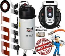 Portable 50 Litre Air Compressor Oil Free Vertical Tank 2HP 10 BAR CFM 50L 240v