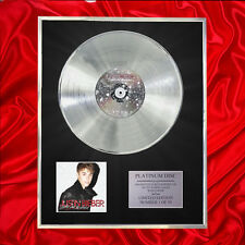 JUSTIN BIEBER UNDER THE MISTLETOE CD PLATINUM DISC VINYL LP