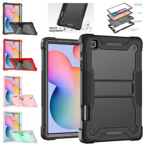 Fr Samsung Galaxy Tab S6 Lite 10.4 P610 Armor Stand Heavy Duty Rubber Cover Case