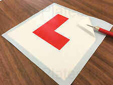 Self Adhesive L Plate Vinyl Sticker Motorbike Motorcycle Scooter Learner Plates