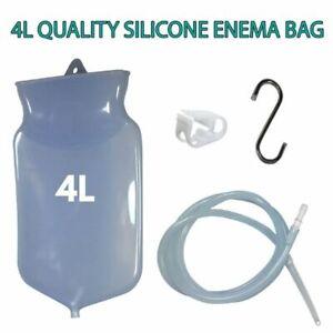 SILICONE ENEMA BAG KIT - 4 LITRE - MEDICAL GRADE QUALITY - REUSABLE - AUSTRALIA
