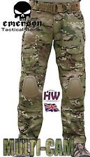 AIRSOFT EMERSON GEN 2 PANTS TROUSERS MULTICAM MTP KNEE PADS 34-36 CRYE STYLE