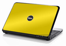 YELLOW Vinyl Lid Skin Cover Decal fits Dell Inspiron Mini 10 Netbook