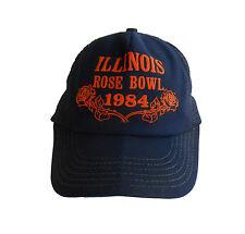 UNIVERSITY OF ILLINOIS Hat Cap ROSE BOWL 1984 Fighting Illini MESH TRUCKERS Blue