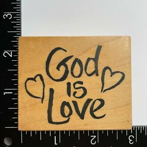 PSX Designs God Is Love Hearts F2561 Wood Mounted Rubber Stamp