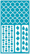Stencil Wall Template Reusable Adhesive Flexible Crafts Tattoo MOROCCAN