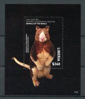 Liberia 2017 MNH Wild Animals of World Tree Kangaroo 1v S/S Kangaroos Stamps