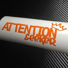 ORANGE ATTENTION seeker Car sticker decal VW Stanced Drift JDM Dub Euro Show Jap