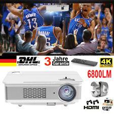 COOAU Projektor 4K Full HD 6800LM 3D Beamer LED Heimkino HDMI Cable Multimedia