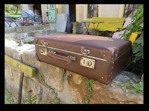 alter Koffer,Reisekoffer 50er Jahre, Kult, Retro Design, Leder, Kaufmann Laden