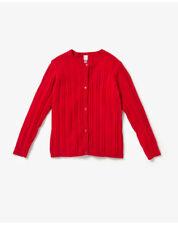 Vêtements pull rouge pour fille de 2 à 16 ans en 100% coton