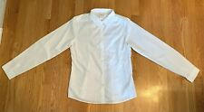 Land's End Kids: Girls Size 16 White Oxford Cloth Ls Blouse School Uniform