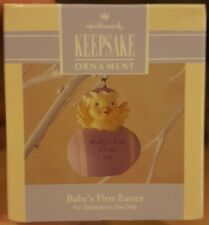 1992 Hallmark Easter Ornament Baby's First Easter Baby Chick NIB NEW IN BOX
