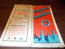 1946-47 Chicago Motor Club/AAA Chicago & Vicinity Vintage Road Map