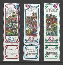 ISRAEL # 593-595  MNH  The Story of PURIM
