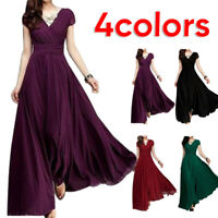 Party Dresses Womens Sundress Dress V Neck Long Maxi Cocktail Formal Gowndress