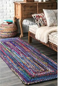 Rug 100% Natural Cotton Handmade Home Floor Decor Modern Living Rug Area Carpet