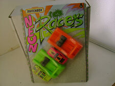1990 MATCHBOX SUPERFAST NEON RACERS WITH LAUNCHER & DE TOMASO PANTERA NEW ON CA