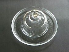 """GLASS DOME COVERED GLASS CHEESE & CRACKER SERVING TRAY ~ 12"""" Diameter tray"""