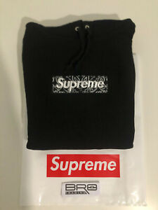 Supreme Bandana Box Logo Hoodie Black FW19 Xl