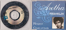 MAXI CD SINGLE 2T COLLECTOR ARETHA FRANKLIN RESPECT & CHAIN OF FOOLS 1993 FRANCE