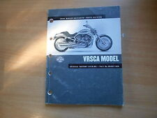 Catalogo parti parts list catalog Harley-Davidson VRSCA Model nell'anno modello 2002