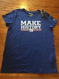 New York Giants NFL Women's Under Armour Royal Combine S/S Tee Shirt Medium NWT