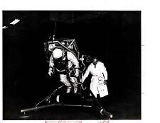 Vintage US Air Force Press Photo Astronaut Testing Aerospace Technologies V02