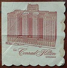 1963 CONRAD HILTON HOTEL (CHICAGO) COCKTAIL NAPKIN