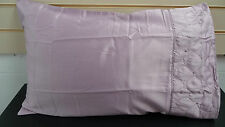 PILLOWCASES LILAC FLORAL EFFECT DETAIL & ONE PAIR FREE   ( NEW )