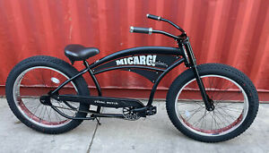 "26"" ROYAL DUTCH Chopper Oversize Beach Cruiser Fat w 4.0"" Tire Black/ Polish"