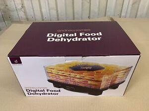 Digital Food Dehydrator Machine Adjustable Thermostat & Timer Quiet Andrew James