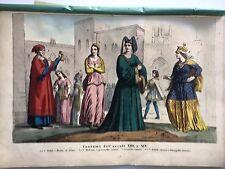 SIENA, COSTUMI en couleur 1861 UTILISE ET COSTUMI,TOSCANA