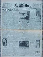 LE MATIN (7/1/1925) La tempête sur l'ouest de la France - Le Reich suspend ....