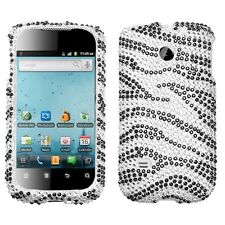 For Huawei T-Mobile Prism U8651T Crystal Diamond BLING Case Phone Cover Zebra