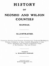 1902 Genealogy History of Neosho & Wilson Co Kansas KS