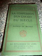 LA CONFESSION D'UN ENFANT DU SIECLE ALFRED DE MUSSET