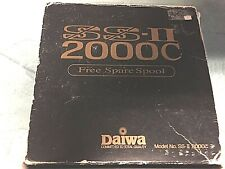 New listing Daiwa 2000c Ss Ii W/ 1 Spare Spool Nice Condition Lightly Fished Made In Japan