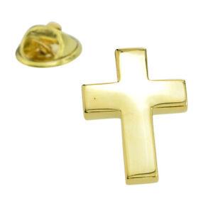 Gold Plated Christian Cross Lapel Pin Badge X2AJTP576