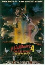 A Nightmare On Elmstreet Postcard: Film 4 Poster repro (USA, 1990)