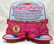 Smarty Pants Melissa & Doug School Kindergrten 120 Brain Building Cards Case