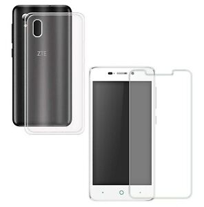 For ZTE BLADE A452 X3 CLEAR CASE + TEMPERED GLASS SCREEN PROTECTOR SHOCKPROOF