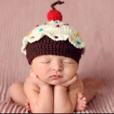 NWT CROCHET CUPCAKE BABY NEW BORN PHOTOGRAPHY HAT KIDS